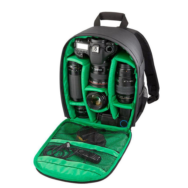 Camera Backpack Bag for Camera Lenses Laptop Tablet and Photography GREEN