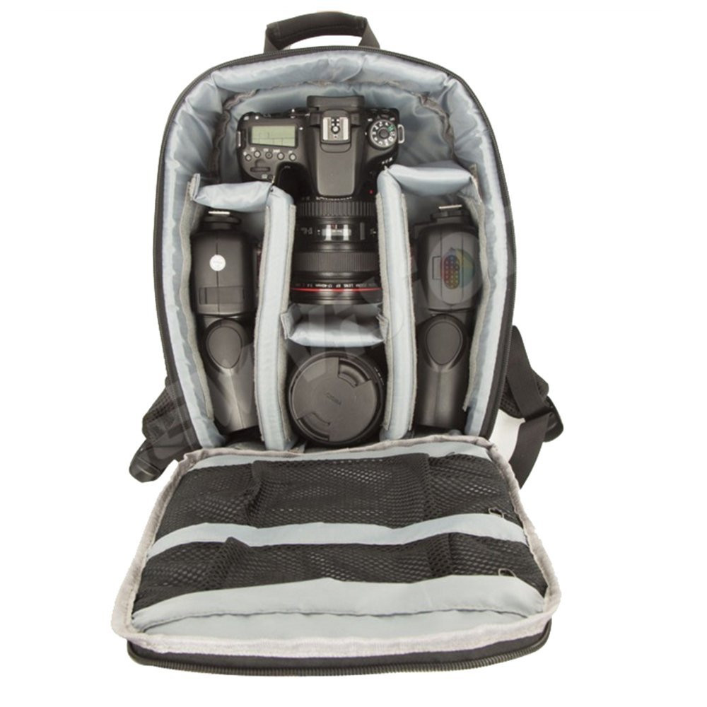 Camera Backpack Bag for Camera Lenses Laptop Tablet and Photography GRAY