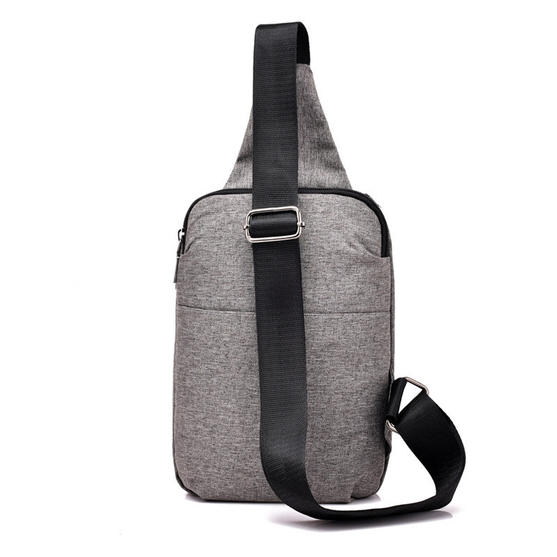 Men's Headphones Breast Bag Shoulder Messenger Backpack Outdoor Sports DARK GRAY VERTICAL
