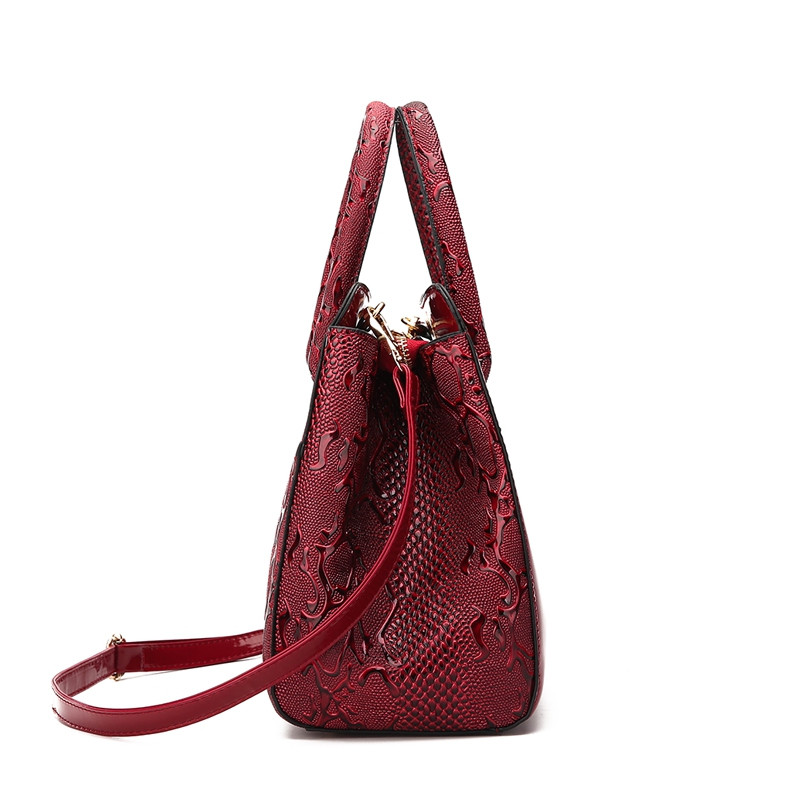 DA934Women'S Fashion Handbag RED WINE