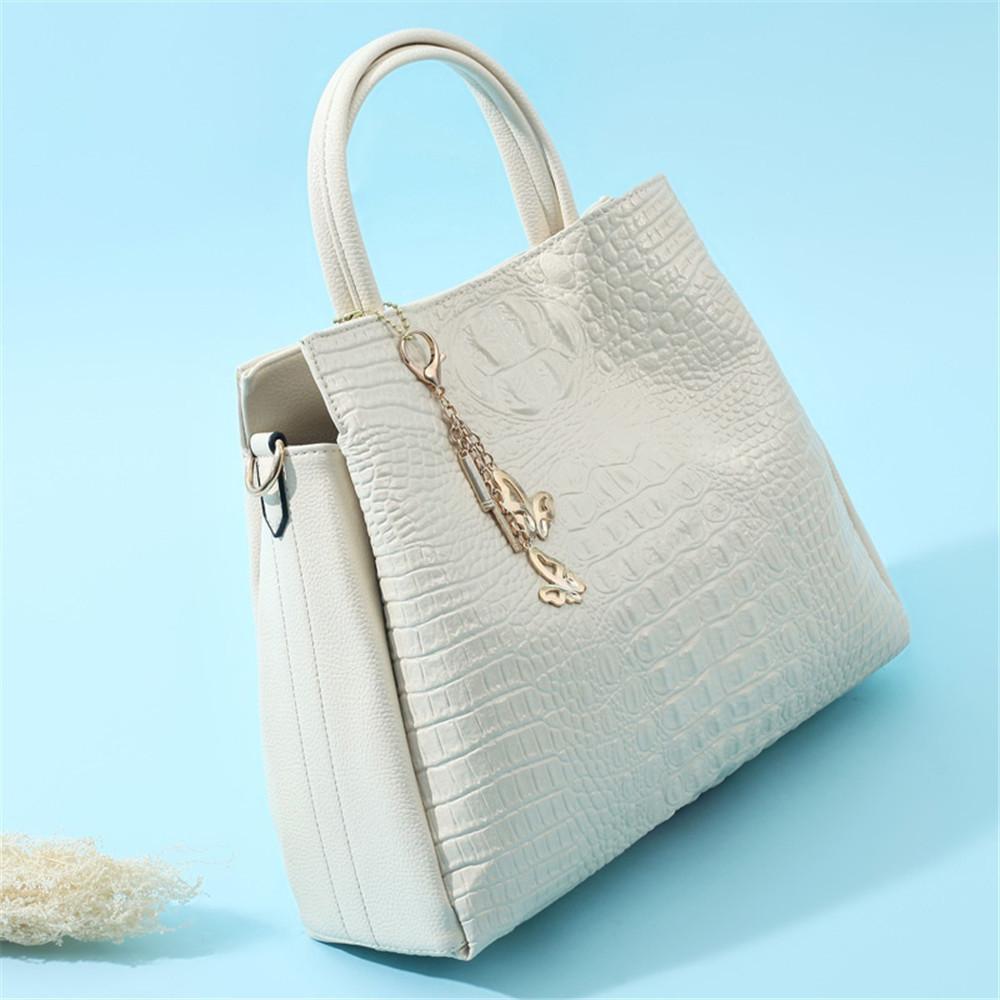 Fashion PU Leather Shoulder Bags Brand High Quality Ladies Tote Bag Women Big Handbags 2 pieces BEIGE