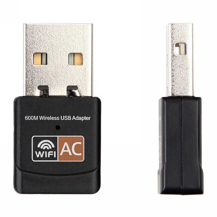 2.4GHz + 5GHz WiFi AC600M Dual-band USB Wireless Network Card