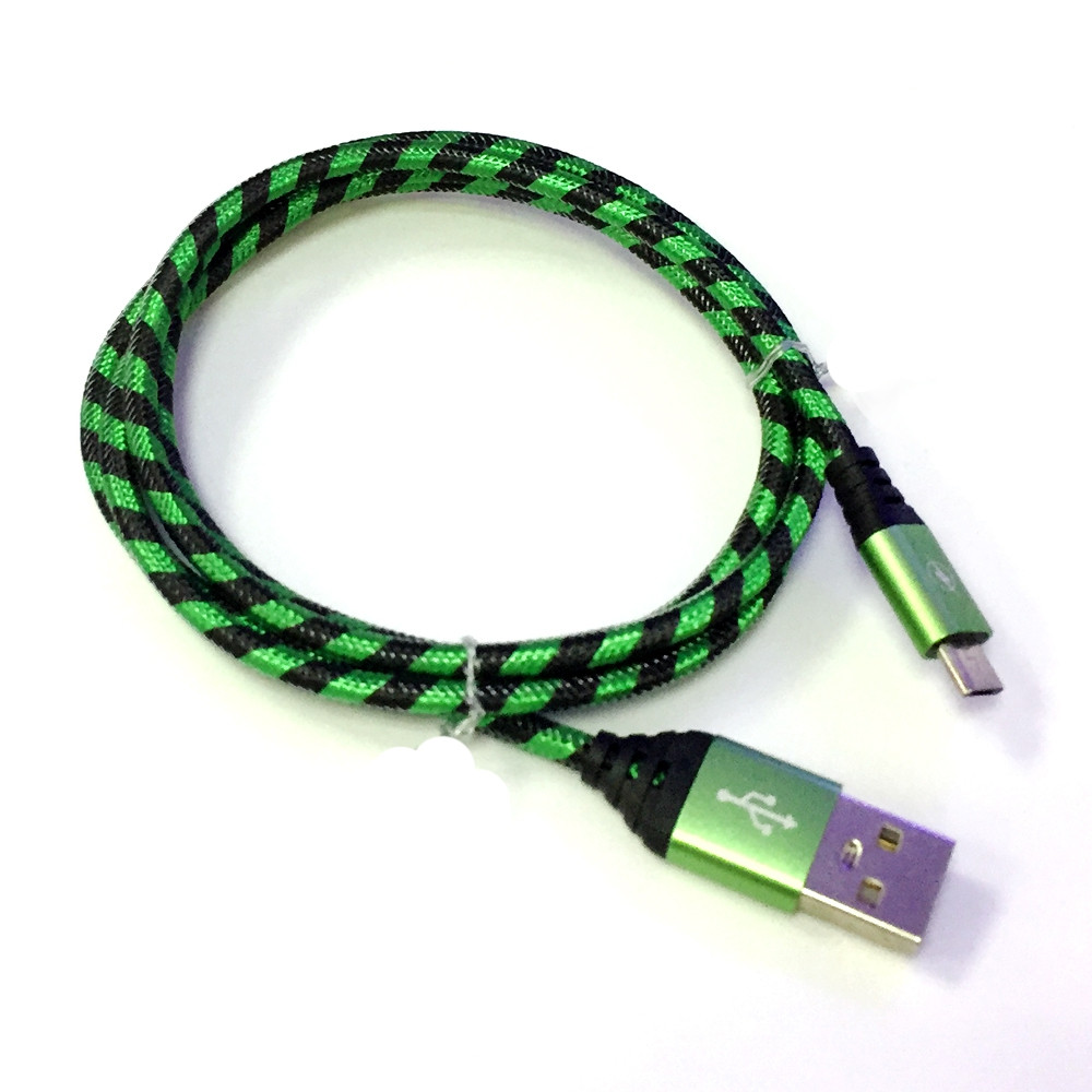 Nylon Braid Micro Data Charger Usb Cable for Android 1M