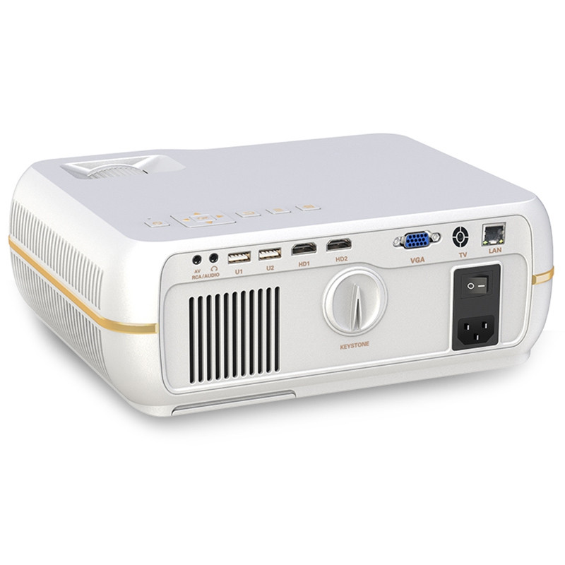 A10 LCD Smart Projector 1280 x 800P / 300 ANSI Lumens / 40 to 150 inch / Android 6.0 / 2.4GHz WiFi / BT 4.0 / LAN + HDMI