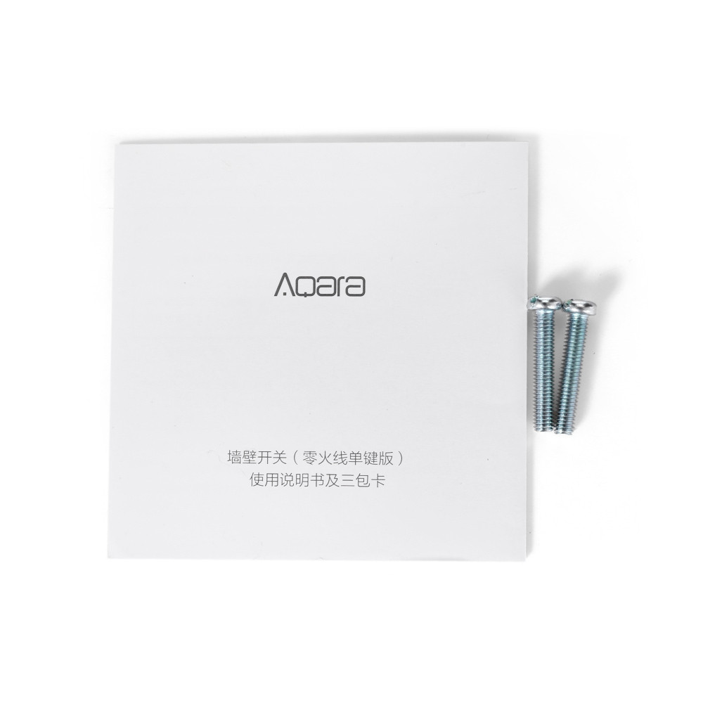 Xiaomi Aqara Smart Light Control Fire Wire and Zero Line Single Key Version