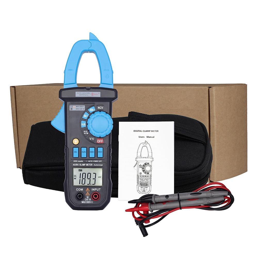 BSIDE ACM03 Plus 400A Digital Auto Range AC / DC Clamp Meter Capacitance Frequency NCV Measuring