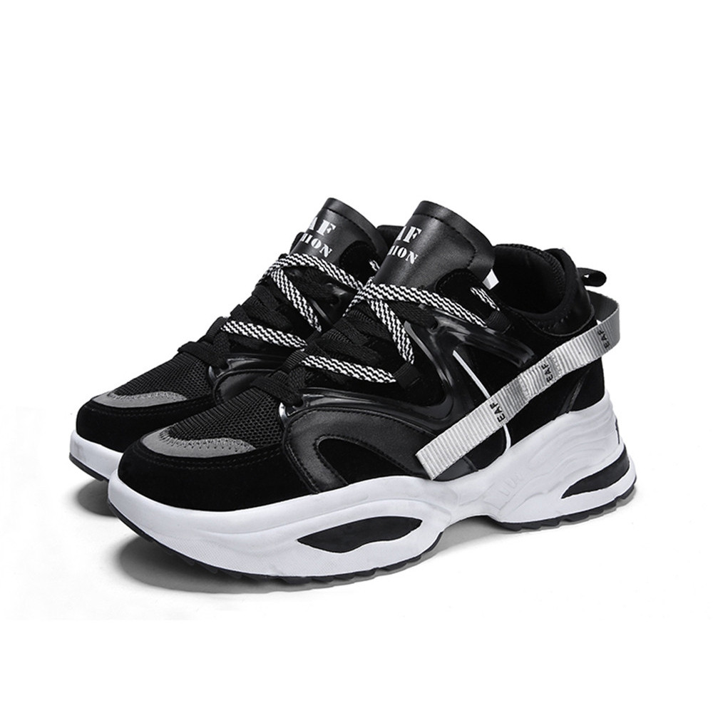 Sneakers Breathable Men Casual Shoes BLACK EU 44