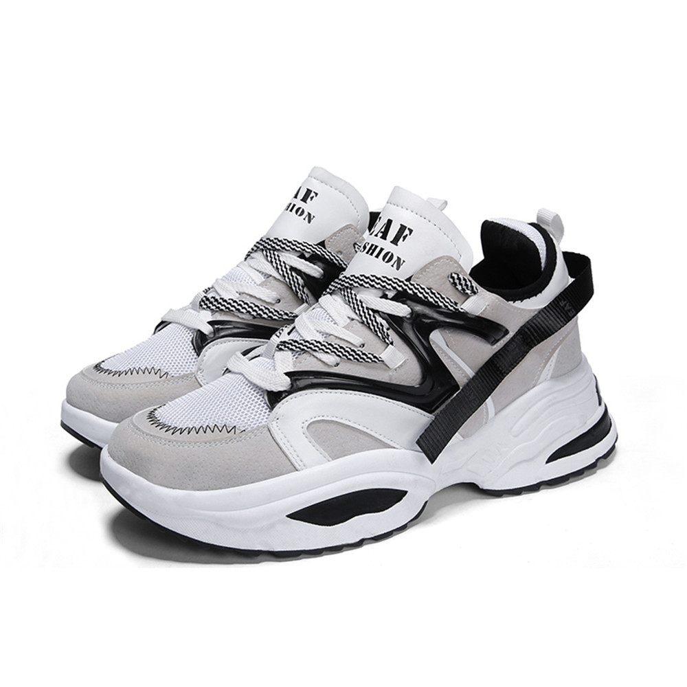 Sneakers Breathable Men Casual Shoes WHITE EU 44