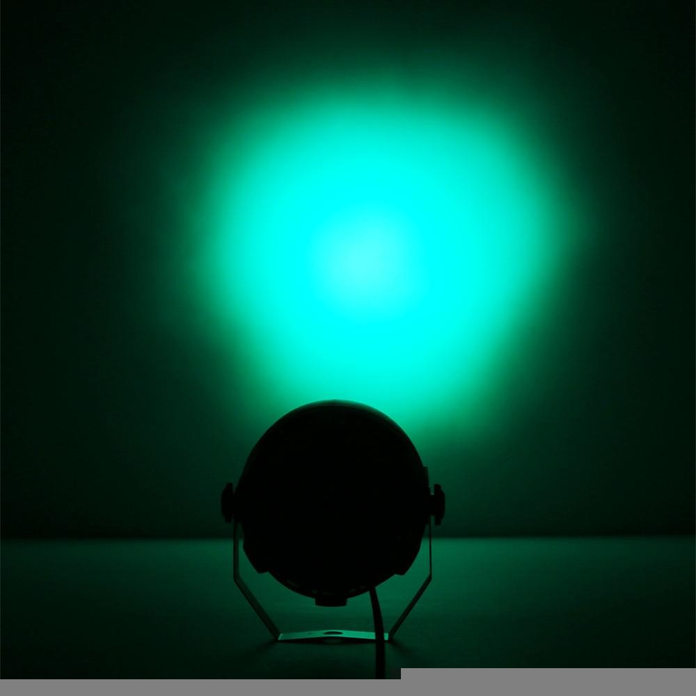 12 LEDs RGBW Color Mixing Par Lamp 8CH Voice Activated Light for Stage Party BLACK EU PLUG