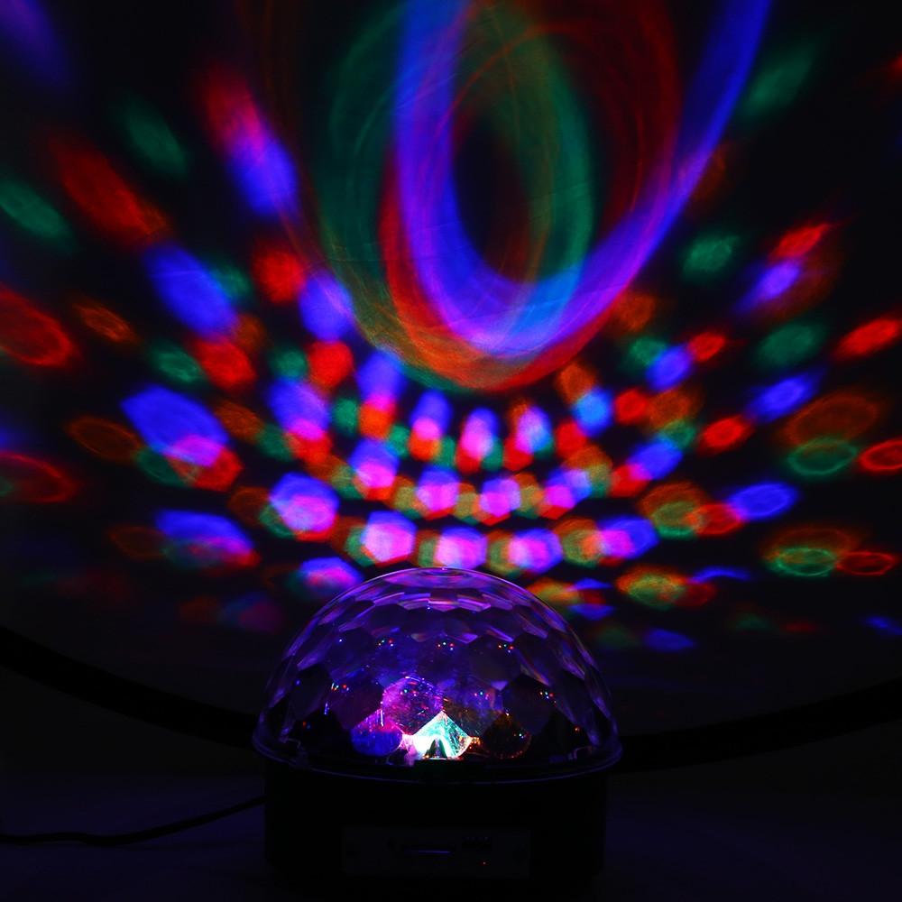 AC 90 - 240V 10 - 25W 6 LEDs RGB Stage Light BLACK EU PLUG