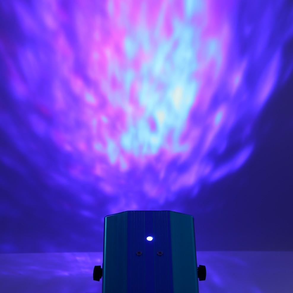 10W RGB LED Water Ripples Light Stage Lamp Laser Projector BLUE EU PLUG