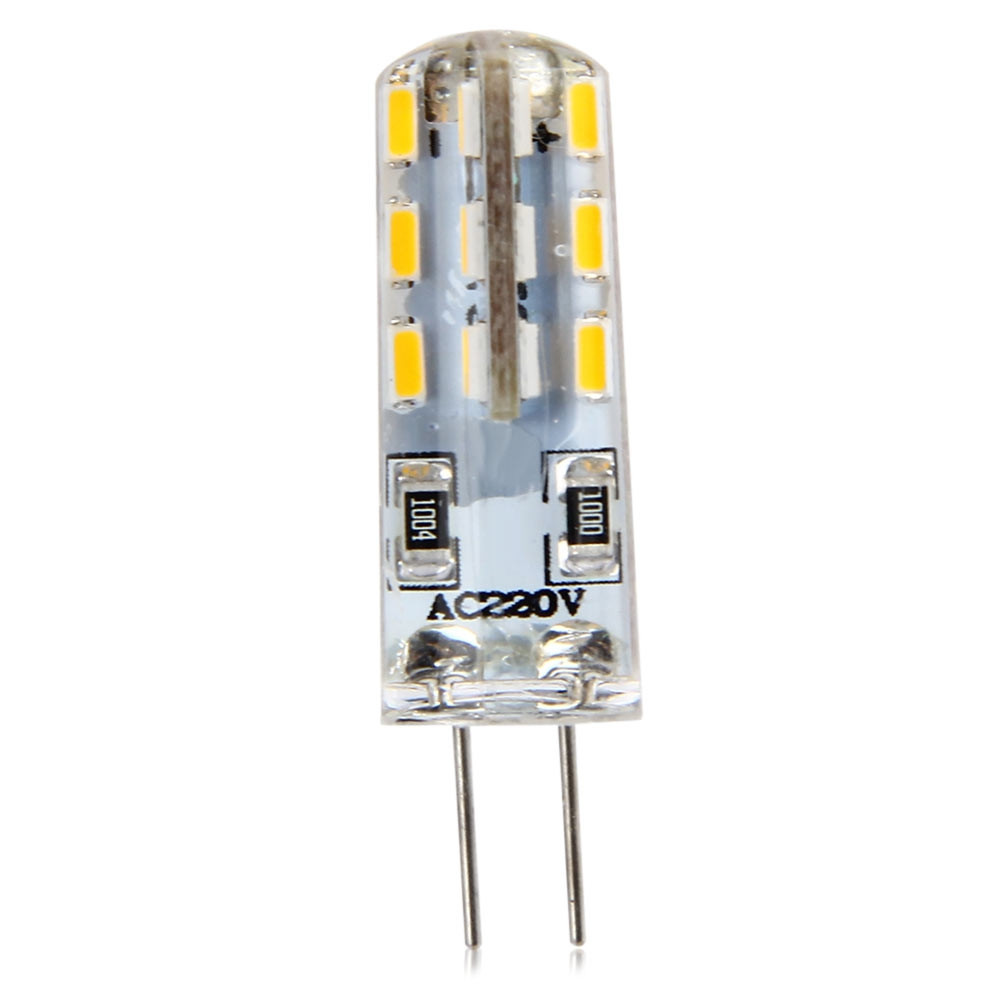 10pcs G4 Base 24 LED Lamp Bulb 3W AC 220V Warm White Light SMD 3014 360 Degrees Beam Angle WARM WHITE LIGHT
