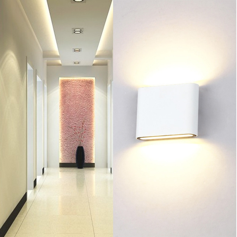 6W Led Wall Light Up down led Stair Bedside Lamp Bedroom Reading Wall Lamp Porch Stair Decoration Light WARM WHITE LIGHT