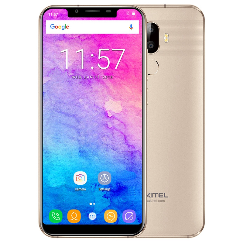 OUKITELU18 4G Phablet 5.85 inch Android 7.0 MTK6750T Octa Core 1.5GHz 4GB RAM 64GB ROM 4000mAh Battery Dual Rear Cameras Fingerprint Recognition