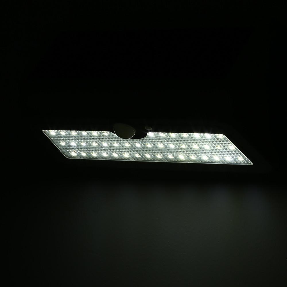 46 LEDs Solar Motion Sensor Wall Light IP65 Waterproof for Outdoors Garden Patio WHITE