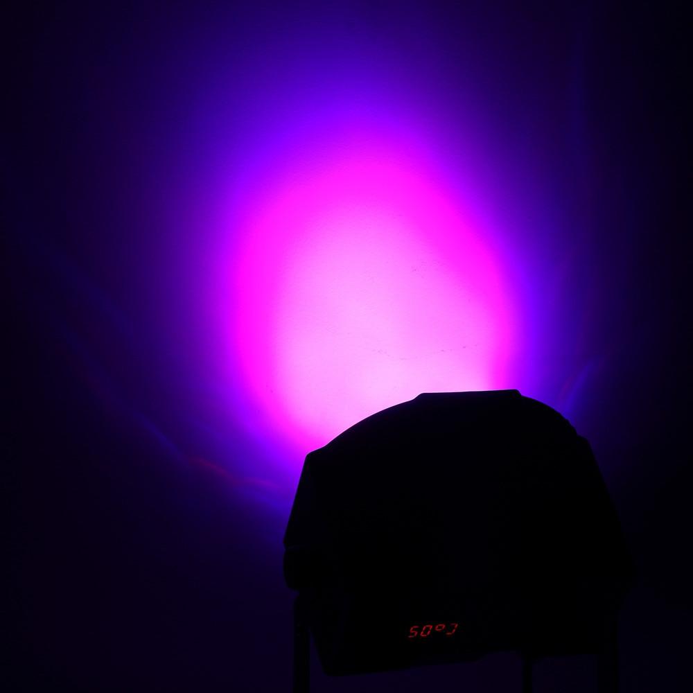 HP005 / 2A - M RGB 36 LEDs Digital Display Par Light with Remote Controller BLACK EU PLUG