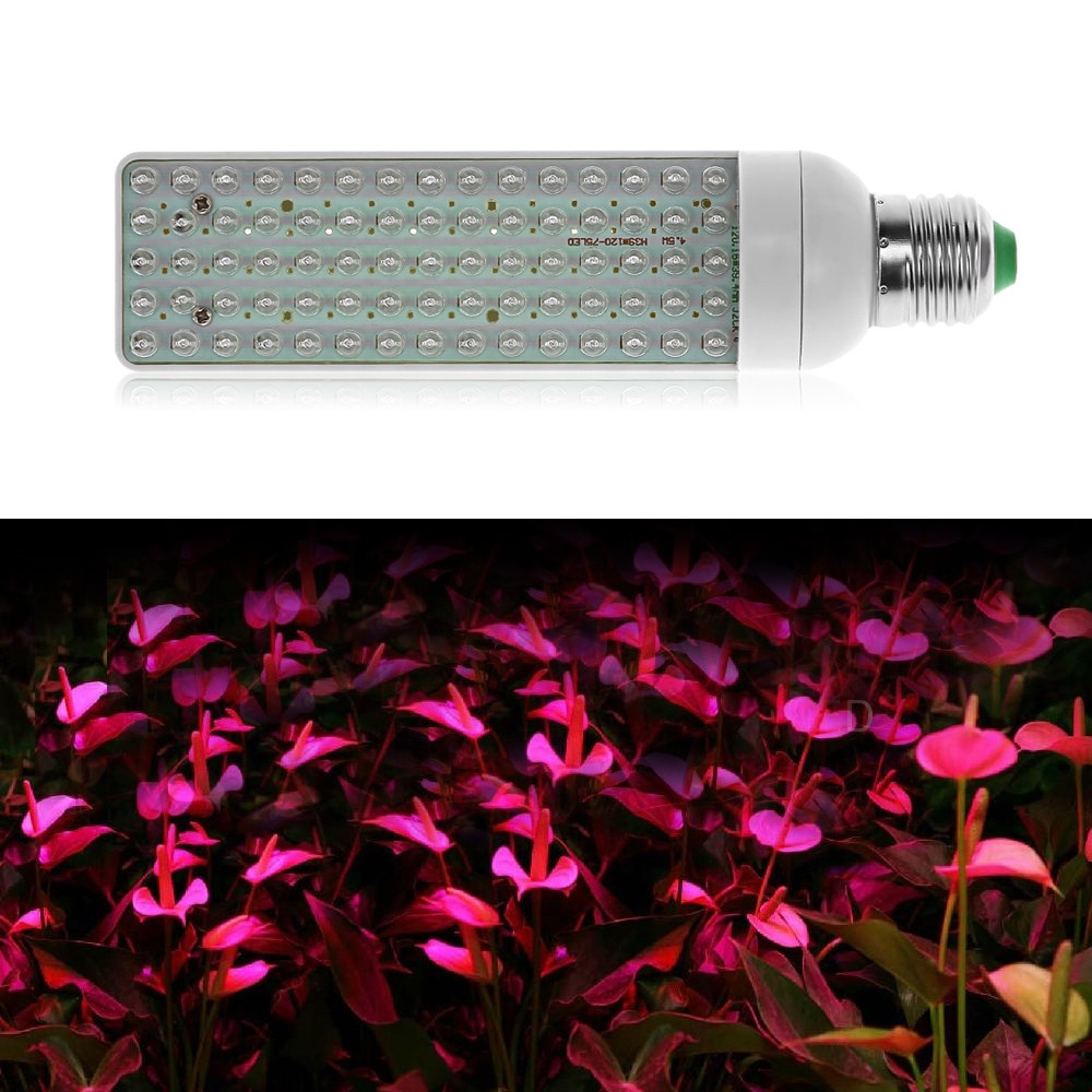 E27 5W LED Grow Light Hydroponic Plant Lamp with 75 LEDs WHITE