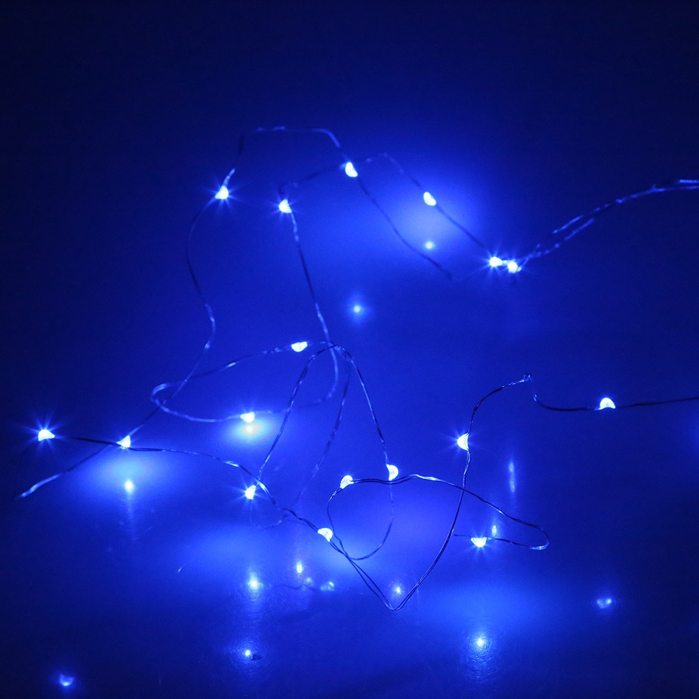 20 LEDs Cork Shape 2M Wine Bottle Copper Wire Light String BROWN BLUE