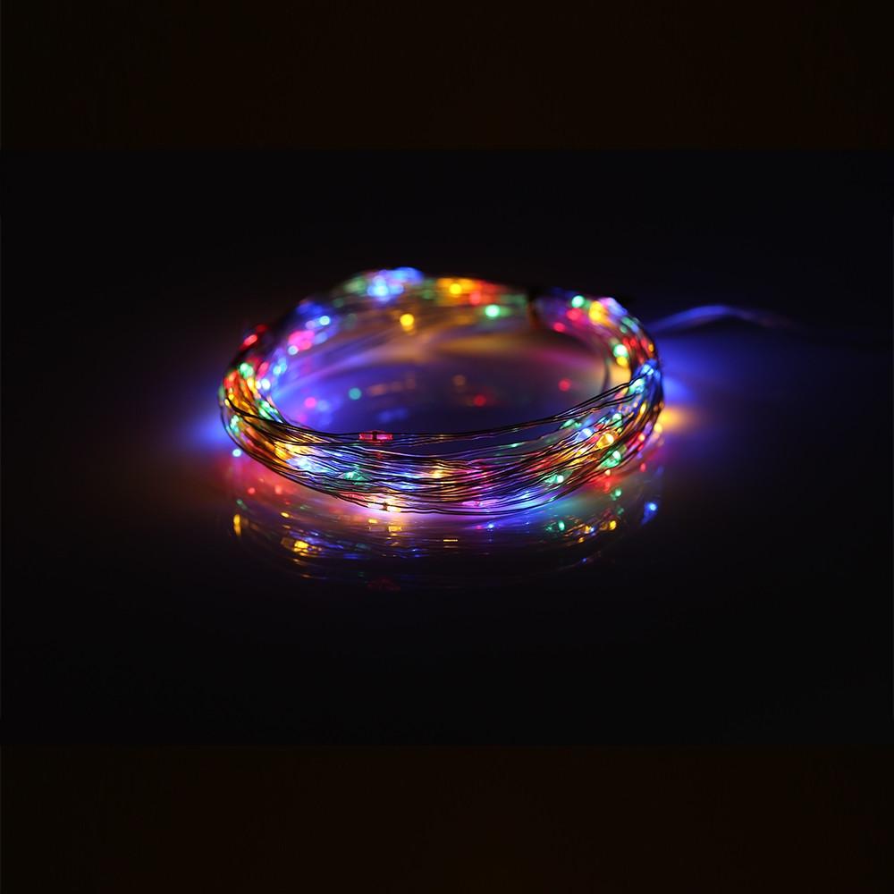 50 LEDs / 100 LEDs / 200 LEDs 8 Function Mode Copper Wire String Light MULTI 100LEDS