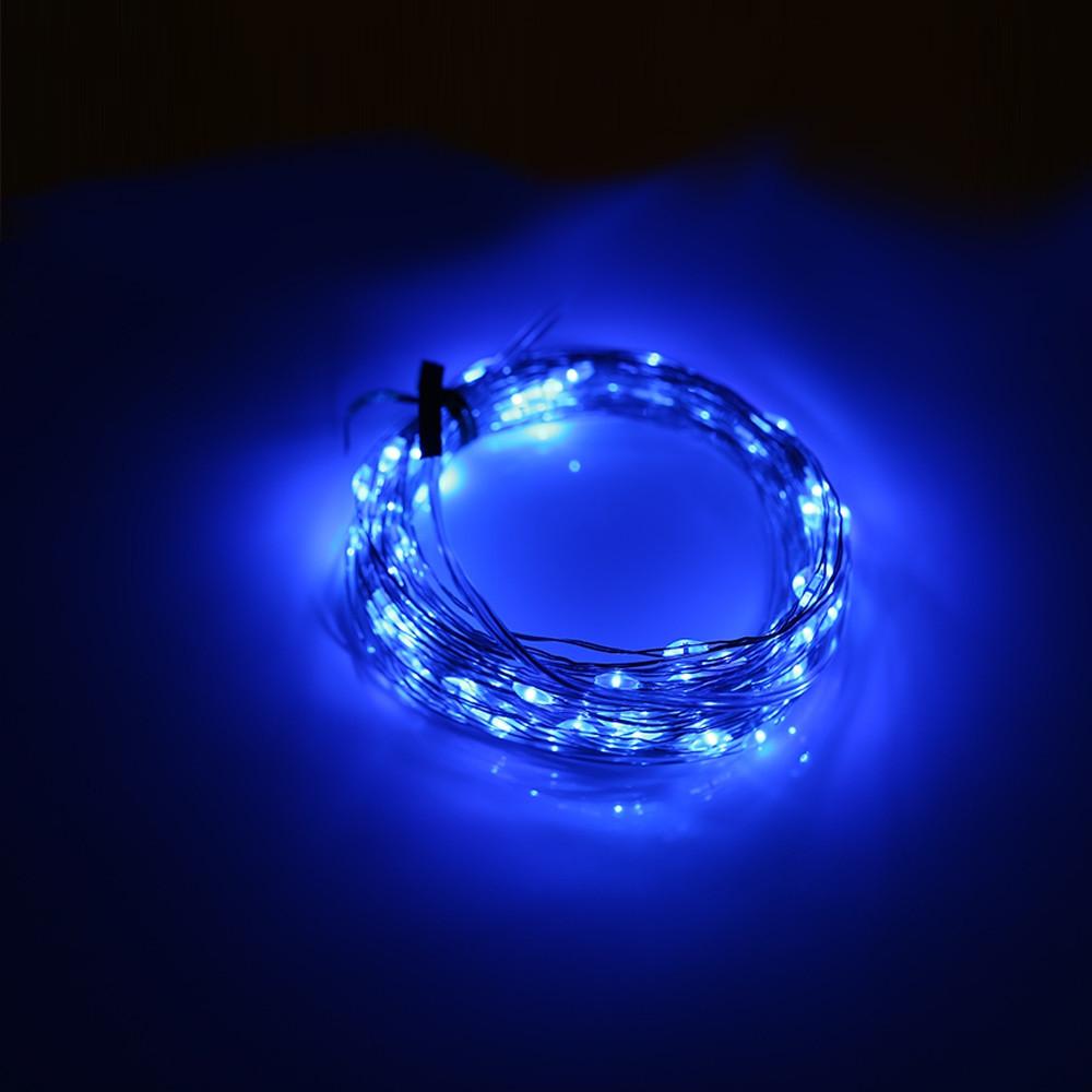 50 LEDs / 100 LEDs / 200 LEDs 8 Function Mode Copper Wire String Light BLUE 50LEDS