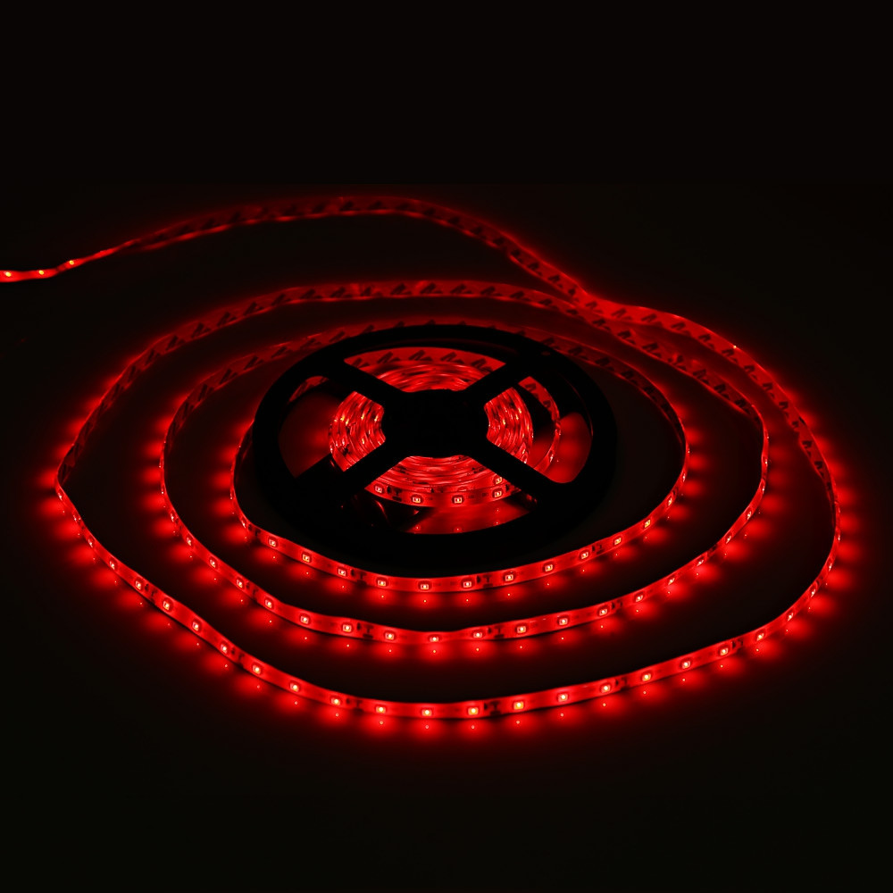 5 Meters 12V 3528 SMD Waterproof IP65 LED Strip Lamp with 300 LEDs RED US PLUG