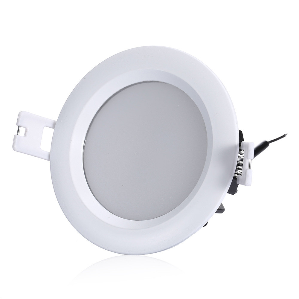 ZDM 1PC 7W Waterproof Dimming White Die-casting Aluminum  LED Downlight AC220V COOL WHITE 7W