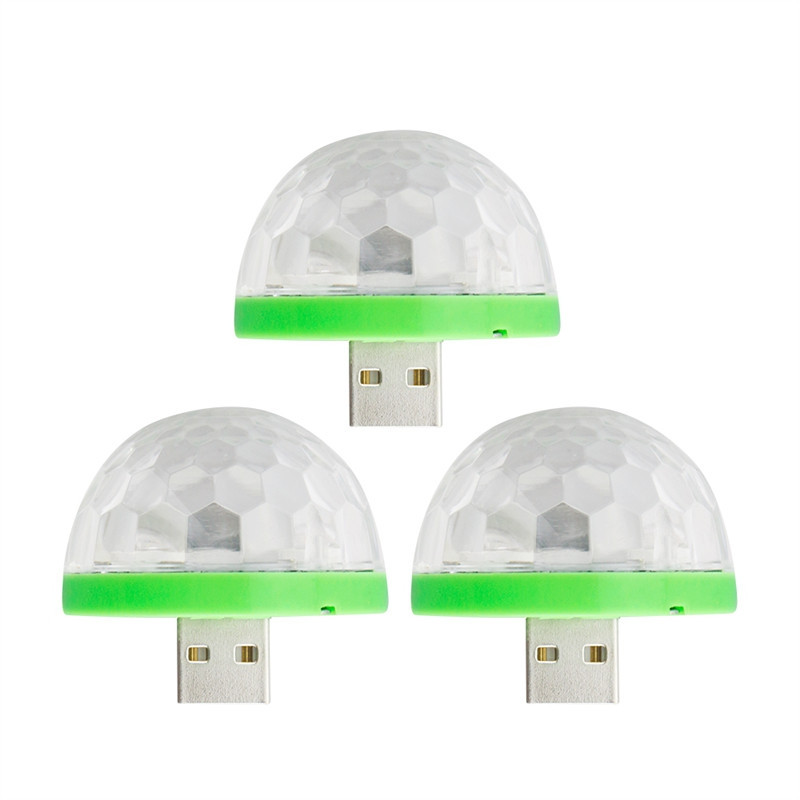 Mini USB Ball Shape Night Light for Holiday Stage Effect Use GREEN