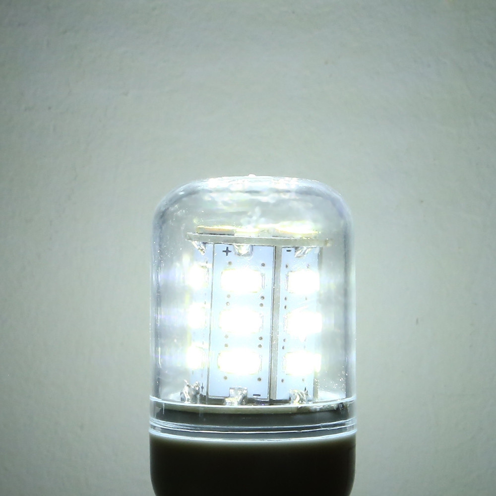 10W E27 SMD 5630 24-LEDs 900LM Transparent White Light LED Corn Bulb (AC 220V) COOL WHITE