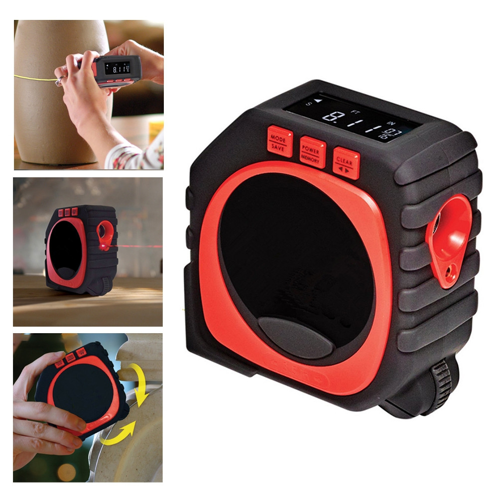 3-in-1 High Accuracy Laser Digital Tape Measure Measuring Tool