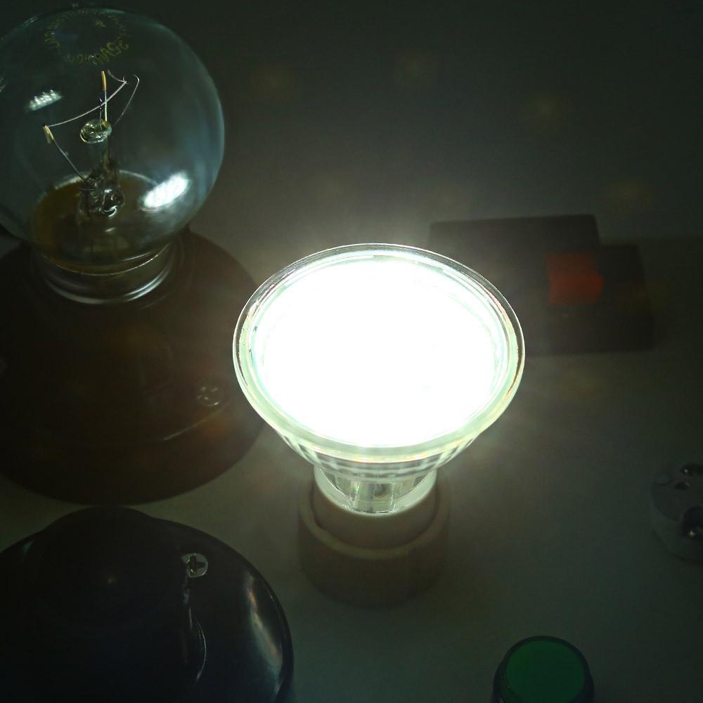 Lightme 4pcs GU10 3W 180 - 220LM Glass Body Lamp 18 LEDs Heat-resistant Spotlight WHITE