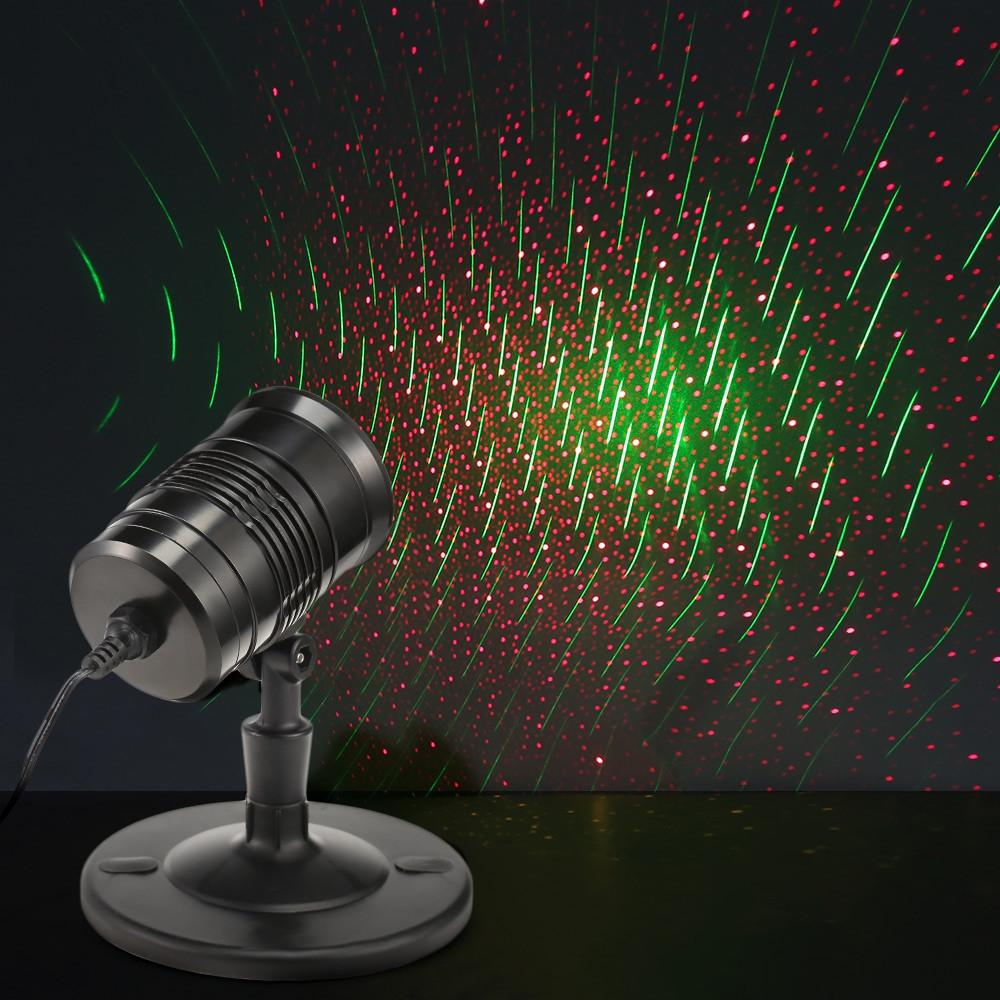 LED Remote Control Stage Light Red Green Laser Flashlight BLACK US PLUG