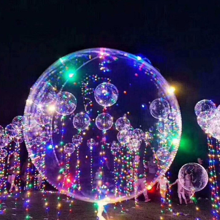 Bobo Balloon LED String Light Battery Powered for Christmas Party Decoration RGB 2 X AA BATTERY POWERED