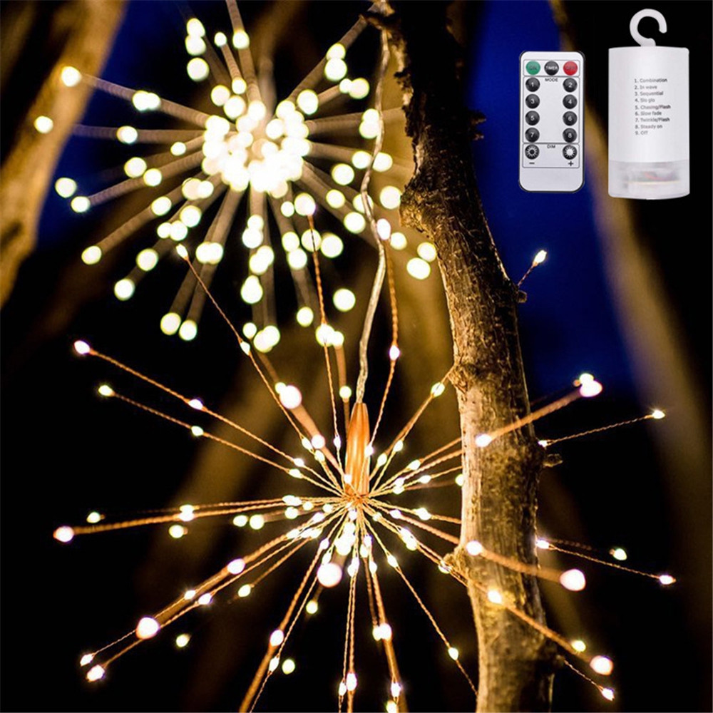 40/60 Pieces Led Fireworks Light Battery Remote Control Explosion Lights WARM WHITE 60 PIECES