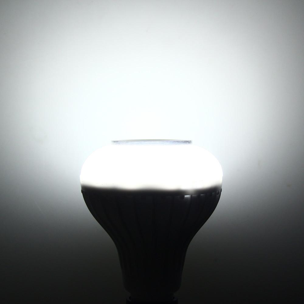 Smart E27 Bulb RC Colorful LED Lamp Bluetooth 3.0 Speaker WHITE