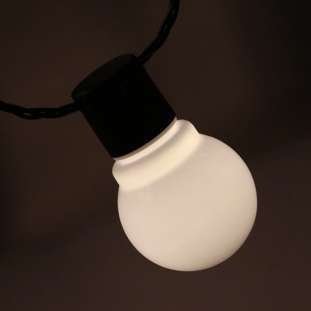 20 LEDs 5M Globe Bulbs String Light WHITE US PLUG WARM WHITE LIGHT