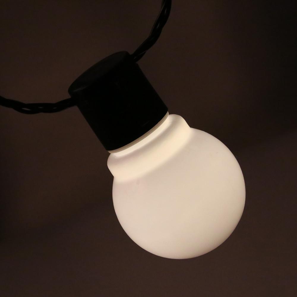 20 LEDs 5M Globe Bulbs String Light WHITE EU PLUG WARM WHITE LIGHT