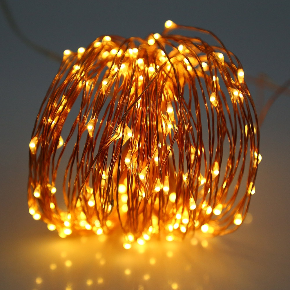 3M 30 LEDs Copper Wire Fairy String Light AA Battery WARM WHITE LIGHT