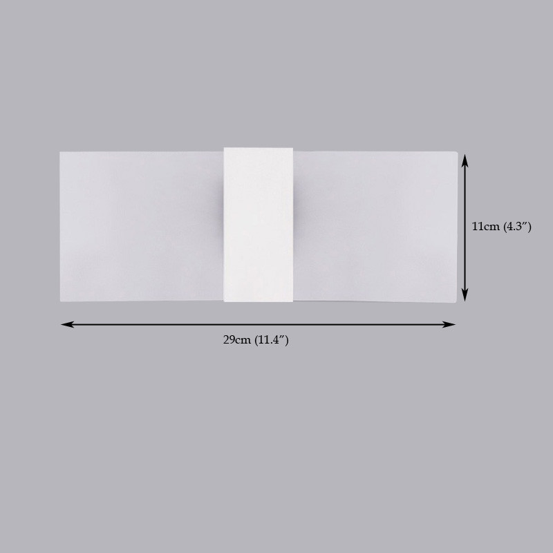 Everflower Modern Acrylic Max 5W Led Bedroom Wall Lamps Fixture Decorative Lamps Night Light for Pathway Staircase Balcony Drive Way Living Room White Color WHITE LIGHT AC110-120