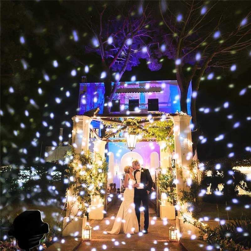 SUPli Christmas LED Snowfall Waterproof Projector Light  with Wireless Remote Controller for Outdoor WHITE EU
