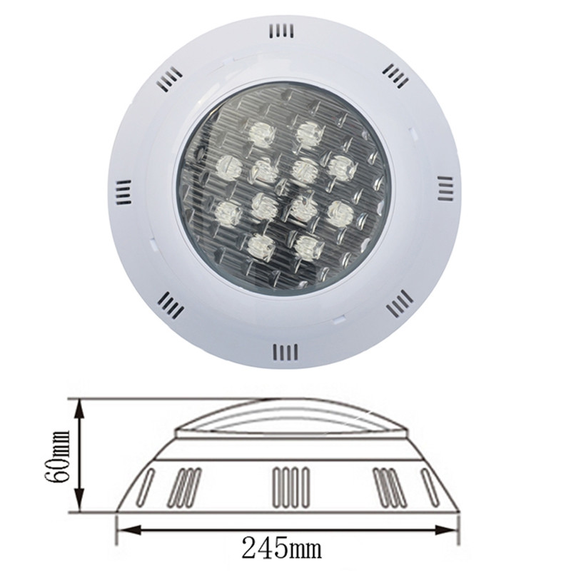 JIAWEN 12W IP68 Waterproof RGB LED Underwater Swimming Pool Light DC 12 - 24V WHITE