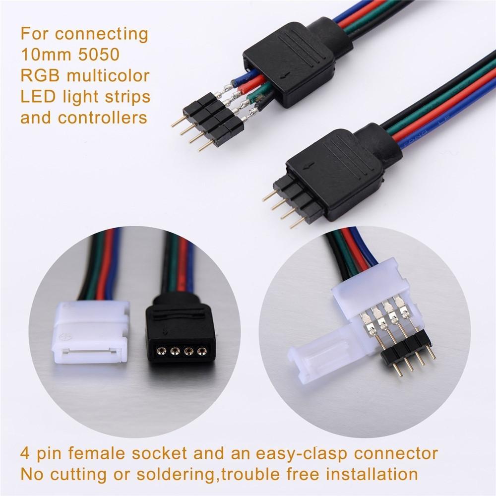 Supli 5M Set- LED Strips Connectors Full Kits  COLOR STRIPE