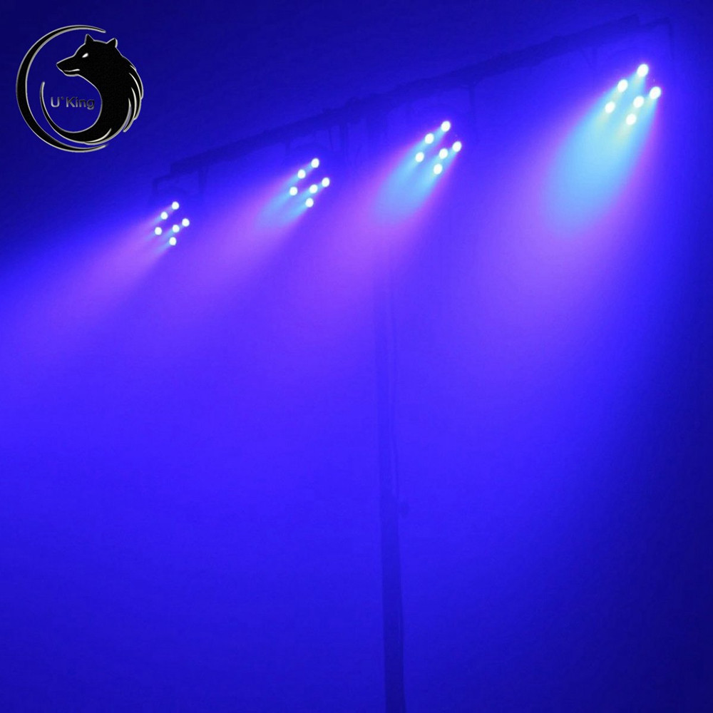 U`King 181W Purple Leds Par Stage Effect Light Dmx512 Sound Activated for Disco Dj Ktv Bar Wedding BLACK EU PLUG