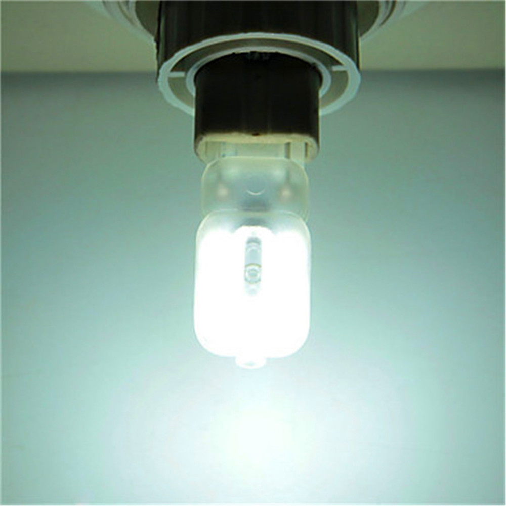 10PCS YWXLight G9 14-LED Electrodeless Dimming LED Lamp Bulb Transparent Cover Light AC 220V COOL WHITE LIGHT
