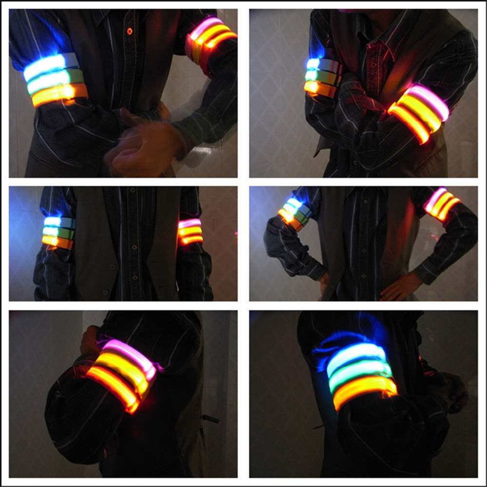 YWXLight Running Safety Glow Light Arm Band LED Wrist Straps Light RED