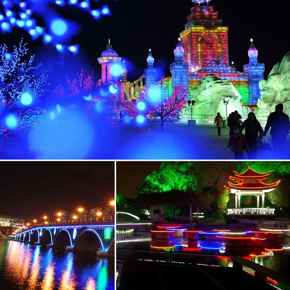 1PCS YWXLight 5M LED Strip Flexible Neon Lights Waterproof LED Light Lamp AC 220 - 240V WARM WHITE US PLUG
