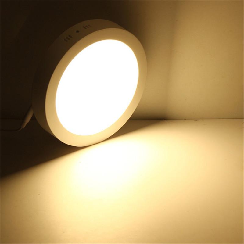 Jiawen LED Panel Light 18W Round Mounted LED Ceiling Lights AC 85 - 265V WARM WHITE LIGHT