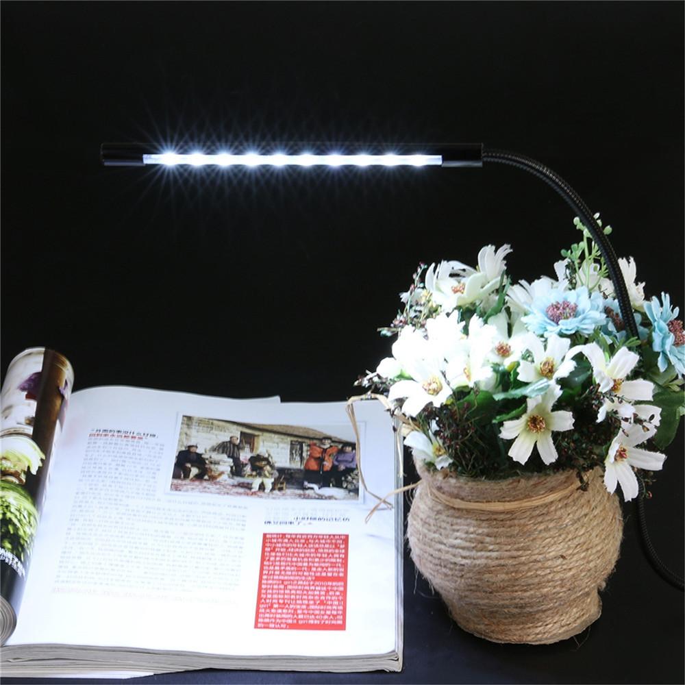 1PCS YWXLight LED Metal Flexible USB Light Eye Protect Night Lamp Touch Switch USB DC 5V BLACK