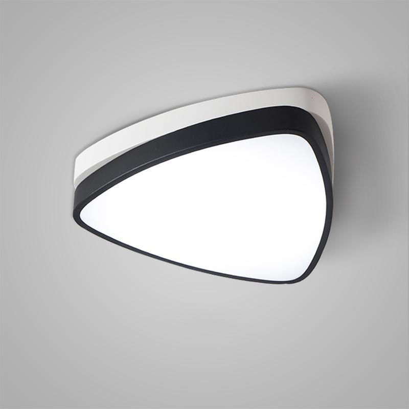 Creative Geometric LED Ceiling Light Modern Home Decor WHITE AND BLACK 100 - 120V