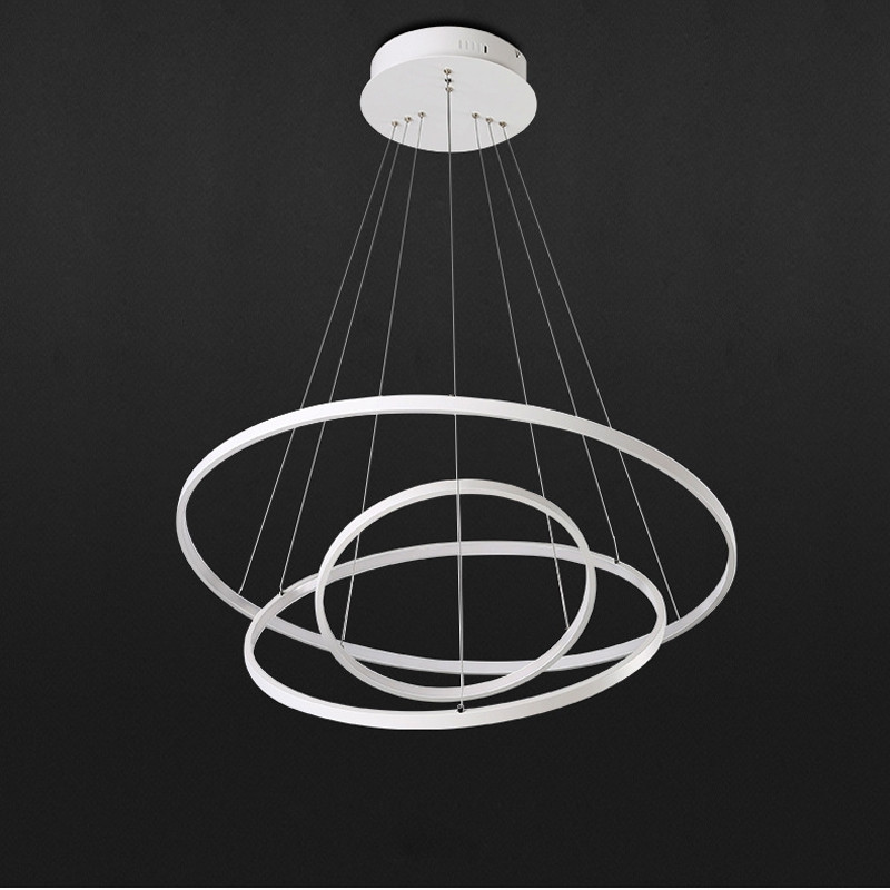 Creative Ring Shape LED Pendant Light 48W Sitting Room Dining Room Lamp WHITE 110 - 120V