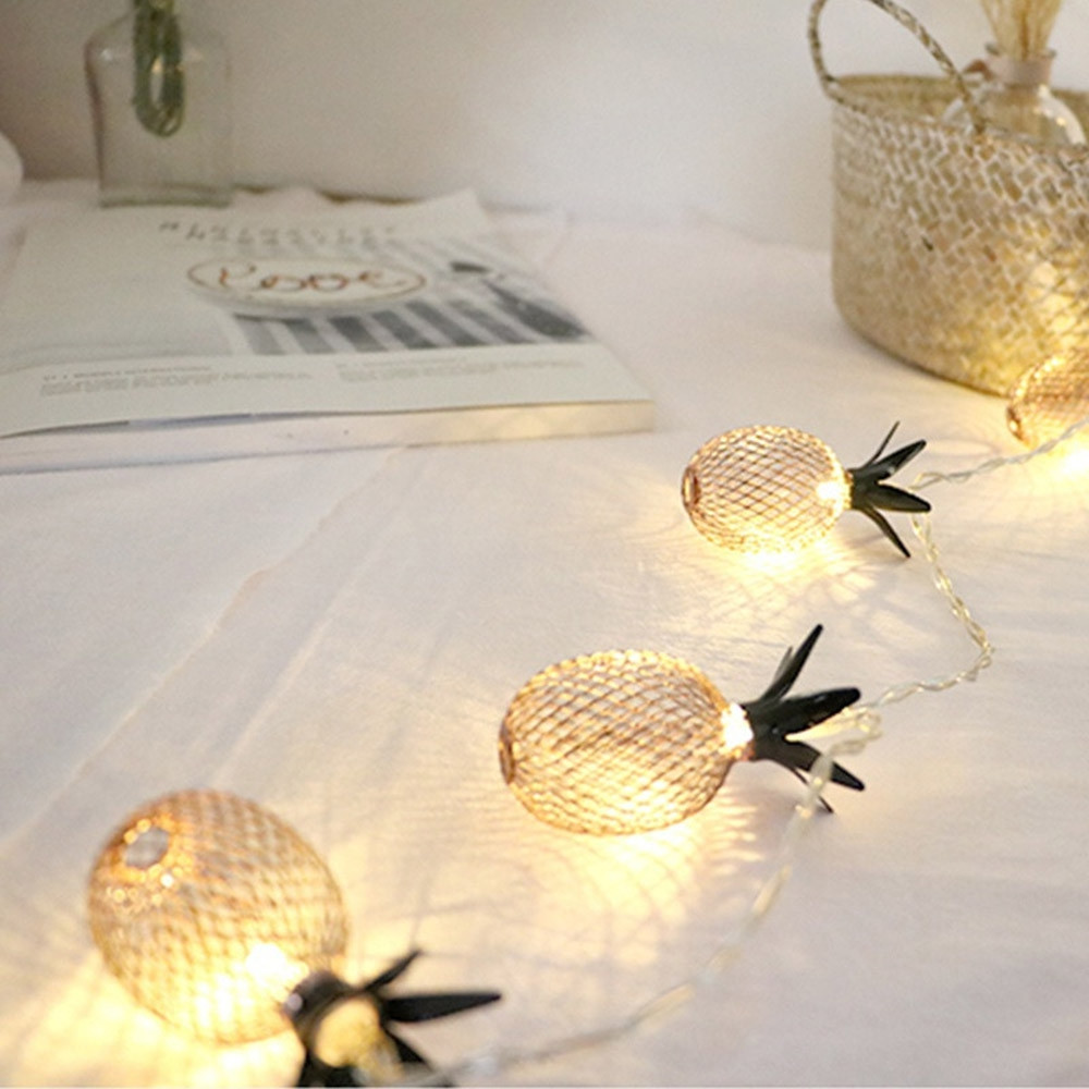 1.5M 10 LED Christmas Pineapple Shaped Bedroom Living Room Decorative Light String GOLDEN